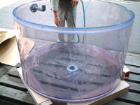 塩ビ透明円筒タンク