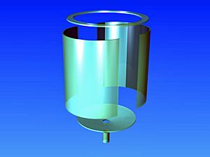 円筒タンク円錐底分解