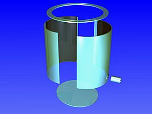 円筒タンク斜め底分解