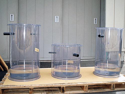 塩ビ円筒タンク水張り試験