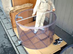 塩ビ円筒タンク寸法確認
